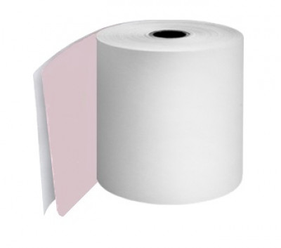 114 x 80 x 12.7mm Core 2 Ply Rolls White/White Boxed 10s - 107