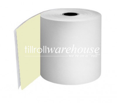 76mm 2 Ply Rolls White/Yellow Boxed 20s - 056
