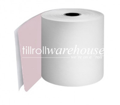 76mm 2 Ply Rolls White/Pink Boxed 20s - 055